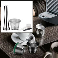 4pcs Stainless Steel Refillable Reusable Coffee Capsule Pod For Nespresso/Parts