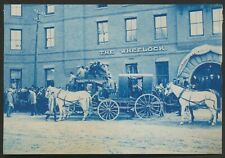 1899 FOOTBALL TEAM ON DELIVERY WAGON Dartmouth College Vintage Cyanotype Photo