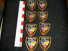 Knights of the Pythias patch set lot 8 patches