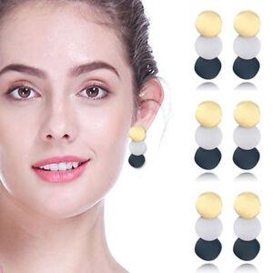 Vintage Women Earring Acrylic Geometric Metal Drop Dangle Stud Earrings Jewelry