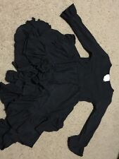 Lemon Loves Lime Dress Size 6 Black Ruffle Long Sleeve Jersey Knit EUC