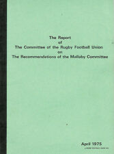 Report Committe RFU on Recommendations of Mallaby Committe England Rugby Booklet