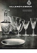 PUBLICITE ADVERTISING 054  1964  VILLEROY & BOCH   cristal service FESTVAL