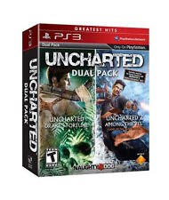 Uncharted Dual Pack  (Sony Playstation 3, 2011) New Sealed Game 1 & 2 PS3