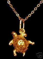 LOOK Gold Plated Sea Turtle Pendant charm 925 Silver Jewelry