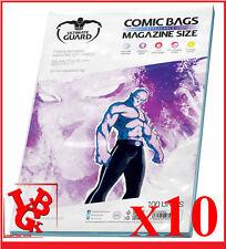 Pochettes Protection MAGAZINE Size comics x 10 Ultimate Guard # NEUF #