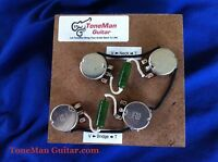 tone man guitar premium prewired wiring harness fits gibson Ibanez 7 String Wiring Diagram tone man deluxe prewired harness fits gibson epiphone les paul short shaft pots Epiphone Wiring Schematics