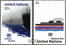 UN - New York 417-418 (complete issue) fine used / cancelled 1983 Vessels
