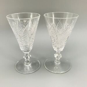 PAIR OF WATERFORD CRYSTAL SHERRY / PORT  GLASSES SIGNED