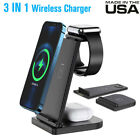 3in1 QI Wireless Charger Charging Station Dock For Apple Watch Phone/Airpod Pro