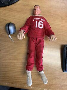 """Vintage Johnny Hero Action Figure Doll 13"""" in great shape w/ raiders helmet"""