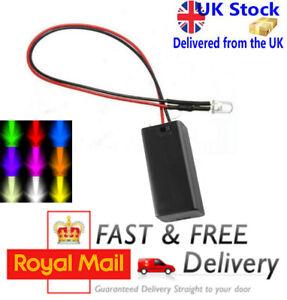 Non Flashing LED & Battery Box Multi Colours - Test/Panel/Display Light LED