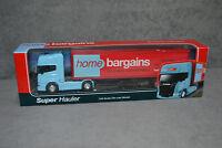 WELLY Home Bargains Scania V8 R730 Diecast Model Truck Lorry 1:64 Super Hauler