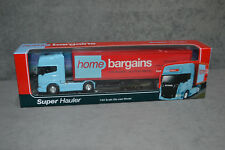WELLY Home Bargains Scania V8 R730 Diecast Model Truck Lorry 1:64 Super Hauler