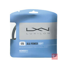 Luxilon BIG BANGER Alu Power Soft 125 Tennis Stringa Set - 16 L/1.25 MM-ARGENTO