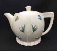 HEFTY Art Deco PORCELIER Teapot/Eclectic Lid/Geometric + Colorful Floral Design
