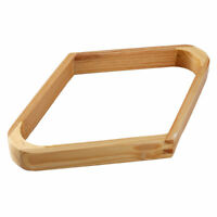 Billiard Pool Table Accessory Wooden Fit Nine Balls Triangle Rack Holds