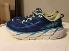 Hoka One One Clifton 2 True Blue/Lime Running Athletic Shoes Womens Size 8