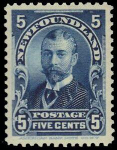 "NEWFOUNDLAND 85 - Duke of York ""King George V"" (pb32810) $75"