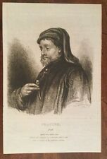 1830 - Chaucer - Fine Etched Portrait By John Whessel.