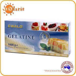 1000g EWALD Leaf Gelatine Sheets Gold Grade 200 Bloom 500 Sheets Made in Germany