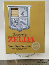 The Legend of Zelda NES Cartridge Canteen 8 oz Flask with Straw NEW IN BOX Funko