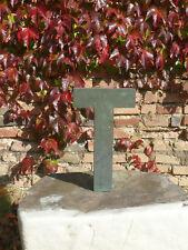 """""""T"""" alte Fassaden Schrift, Buchstabe, Kupfer, Grünspan, 60er Jahre """"kaufe ein T"""""""