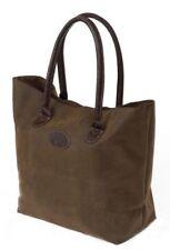 Shopper Tasche braun Einkaufstasche Damentasche L 44cm Wildlederimitat