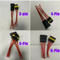 Car Waterproof 3/4/5/6Pin Way Sealed Male Female Electrical Wire Connector Plug