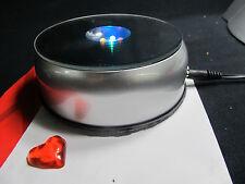 "3 D Crystal Trophy Laser 7 LED Rotating Electric Light  Display Base 4"" AC/DC"