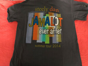 Steely Dan Large Grey 2014 Concert Tour T-Shirt Short Sleeve