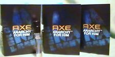 AXE ANARCHY Cologne EDT  for Him Spray Samples .04 oz  LOT of 3