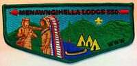 OA MENAWNGIHELLA 550 BSA MOUNTAINEER AREA WV LODGE CHIEF APPRECIATION FLAP TOUGH