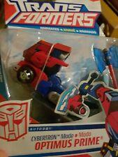 Cybertron Mode Optimus Prime Deluxe Animated Hasbro Transformers new sealed rare