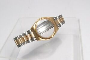 Seiko Vintage 37mm Case Gold Tone 19mm Bracelet Original Stainless For Parts