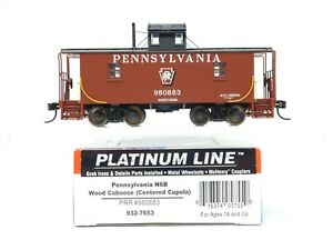 HO Scale Walthers Platinum Line 932-7653 PRR Pennsylvania Wood Caboose #980883