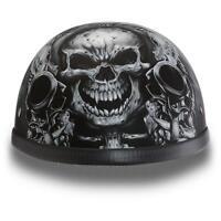 Daytona Helmets Novelty Skull Cap EAGLE- W/ GUNS Vintage Motorcycle Helmet
