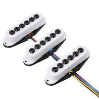 Big Pole Pieces Neck/Middle/Bridge Pickup Set for Stratocaster Guitar- White
