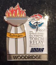WOODRIDGE Sydney 2000 Olympic Torch Relay AMP sponsor pin