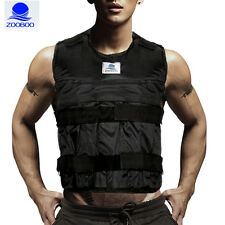 Zooboo 44LBS/20KG Adjustable Weight Vest Jacket Exercise Fitness Training(Empty)