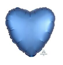 Party Supplies Birthday Engagement Satin Luxe 45cm Foil Balloon Azure Blue Heart