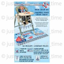 First 1ST BIRTHDAY Nautical Boys Party 4 Piece High Chair Decorating Kit