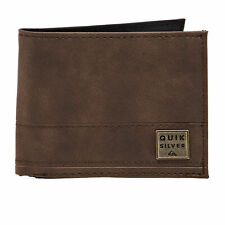 Quiksilver New Stitchy Wallet/purse Wallet - Chocolate Brown All Sizes