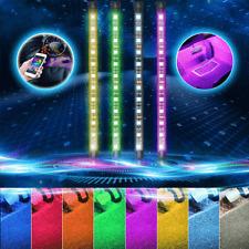 4X 48Smd Led Auto Interior Rgb Atmosphere Neon Light Bluetooth Phone App Control