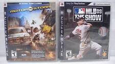 2 PLAYSTATION 3 PS3 Video Games MLB 09 THE SHOW & Free Bonus MOTORSTORM