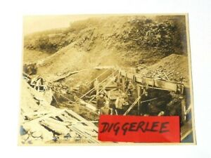 """1904 DICKEY FRACTION on Bedrock GOLD MINING Nowell Sepia Photograph 10x8"""" #1081"""