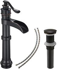 BATHLAVISH Bathroom Vessel Sink Faucet Oil Rubbed Bronze Black Farmhouse Single