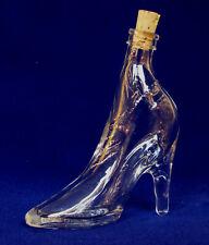 Glas Flasche Damen Schuh 0,04 L. mini High Heal Schnaps Likör 11 mm PE Kork