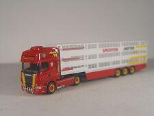 Viehtransport HEFTER - Scania R09 Sattelzug - Herpa HO 1:87 - 923392 #E