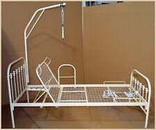 Ein Bett Metallbett für Senior (in) 90x200 mit Metallnetz, 3 Stande, Liege 37 cm